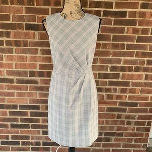 NWT Ann Taylor plaid sleeveless career work dress